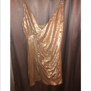 Champagne gold sequin dress!